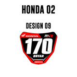 Mini Plate Stickers - Honda 02