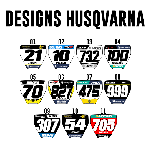 Mini Plate Stickers - Husqvarna