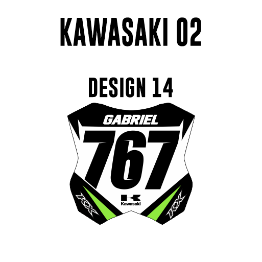 Mini Plate Stickers - Kawasaki 02