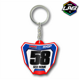 Double Sided Keychain Honda 02 - Design 02