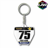 Double Sided Keychain Husqvarna 01 - Design 01