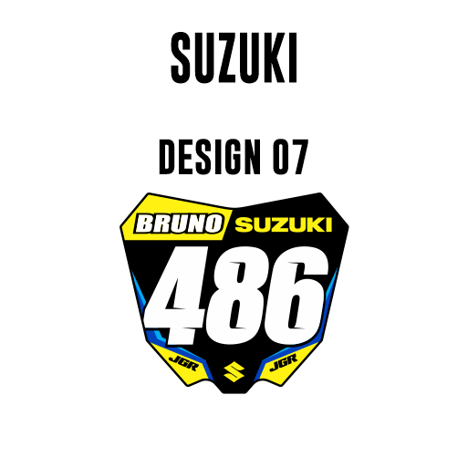 Mini Plate Stickers - Suzuki