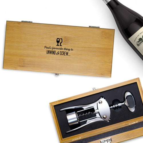Personalised Deluxe Corkscrew Gift Set