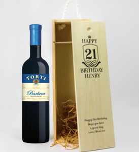 1 Bottle Personalised Wine Box - Any Occasion & Year (Choose Your Own Design)