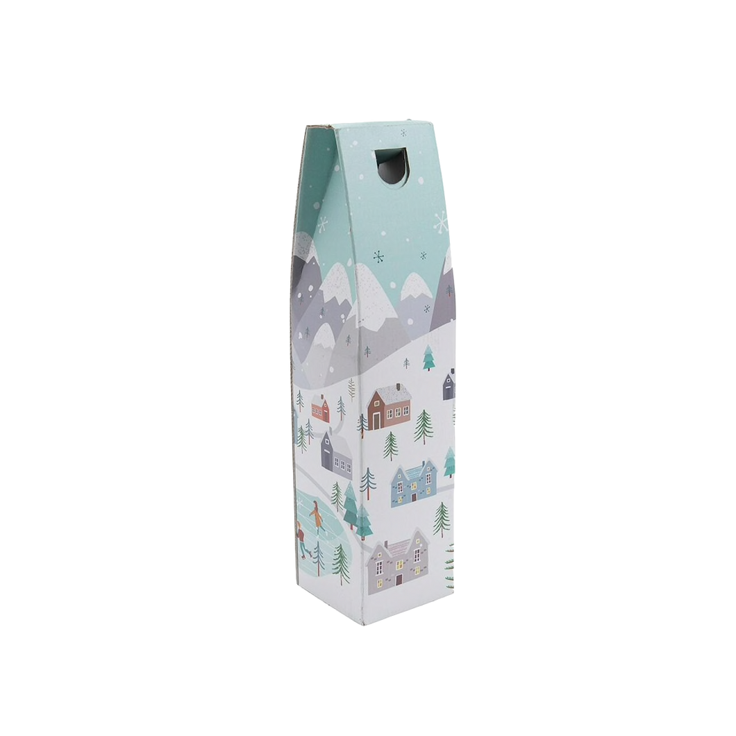 1 Bottle Gift Box with a Snowy Scene