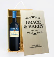 Load image into Gallery viewer, 2 Bottle Personalised Wine Box (Choose Your Own Design)