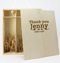 Load image into Gallery viewer, Personalised 3 Bottles ROUTE 66 Wooden Wine Gift Box (Choose your Own Design)