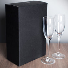 Load image into Gallery viewer, 2 Personalised Mr & Mrs Champagne Flutes