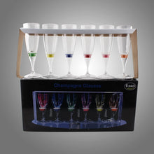 Load image into Gallery viewer, Rainbow Collection LED Champagne Flute