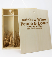 Load image into Gallery viewer, Rainbow Collection Personalised 3 Bottle Wine Box (Choose Your Own Design)