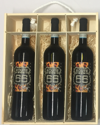 Personalised 3 Bottles Route66 Barbera Doc Op Tony Moore's Signature Collection