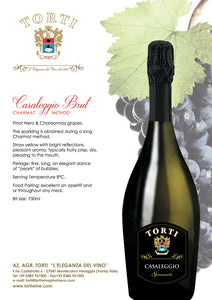 Torti Brut Spumante - Sparkling Wine - Martinotti Method