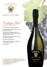 Load image into Gallery viewer, Wooden TORTI Branded Gift Box & 6 Bottles Casaleggio Torti Brut Spumante - Sparkling Wine - Martinotti Method