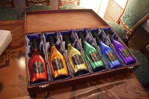 Rainbow Collection 6 Bottle Set in Luxury Silk Lined Wooden Gift Box