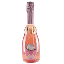 Load image into Gallery viewer, Rose Bear & Hello Kitty Sweet Sparkling Pink Rosé 375ml