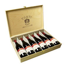 Load image into Gallery viewer, Wooden TORTI Branded Gift Box & 6 Bottles Torti Pinot Noir Red Wine - 91 pts