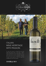 Load image into Gallery viewer, Bocelli Family Wines Pinot Grigio