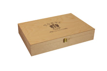 Load image into Gallery viewer, Wooden TORTI Branded Gift Box & 6 Bottles Perla Rosa Sparkling Rosè