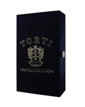 Load image into Gallery viewer, Wooden TORTI Branded Gift Box & 2 Bottles Casaleggio Sparkling Rosè