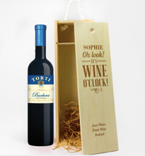 Load image into Gallery viewer, 1 Bottle Personalised Wine Box (Choose Your Own Design)