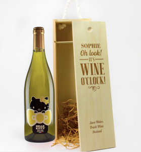 1 Bottle Personalised Wine Box (Choose Your Own Design)