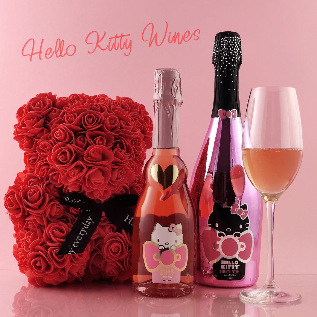 Rose Bear & Hello Kitty Wine - Special Edition Collection