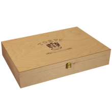 Load image into Gallery viewer, Wooden Traditional TORTI Branded Gift Box for 6 Bottles
