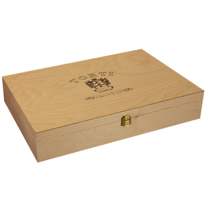 Wooden Traditional TORTI Branded Gift Box for 6 Bottles