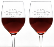 Load image into Gallery viewer, 2 Personalised Wine Glasses - Any Message