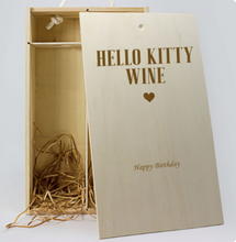 Load image into Gallery viewer, Personalised 2 Bottle Celebration Personalised Wine Box (Choose Your Own Design)