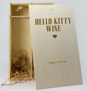 Personalised 2 Bottle Celebration Personalised Wine Box (Choose Your Own Design)