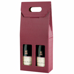 2 Bottle Gift Box Various Colours & Designs