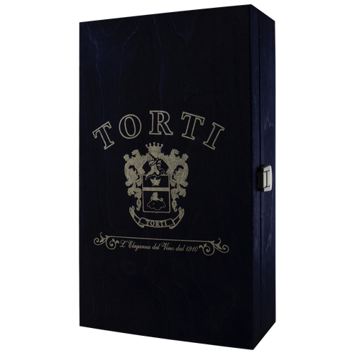 Wooden Traditional TORTI Branded Gift Box for 2 Bottles