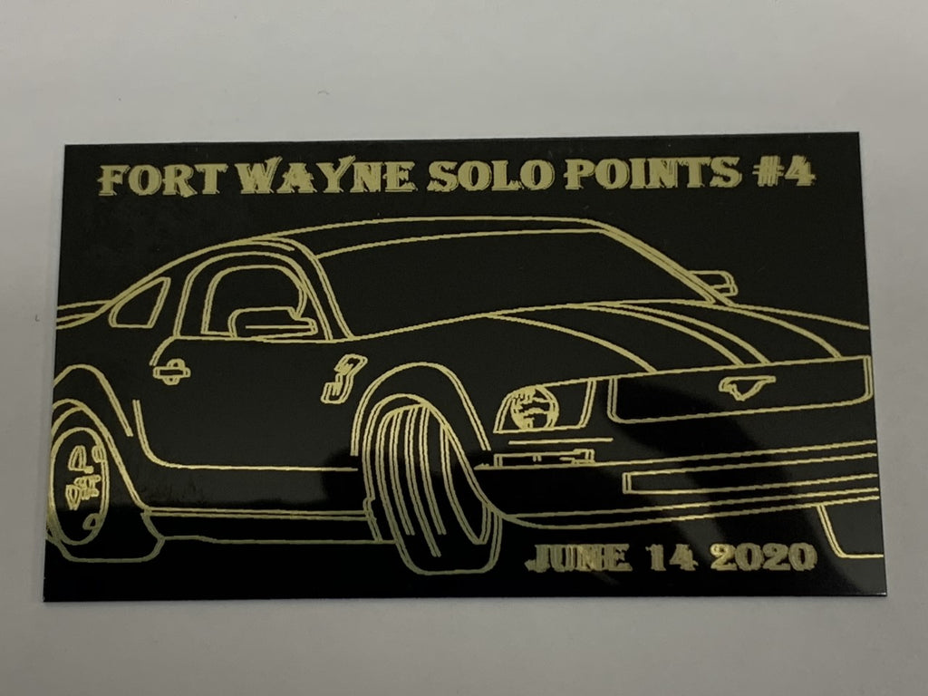 Gold Medal Awards Provides Dash Plates for Sport Car CLub of America Fort Wayne Region Event