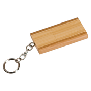 Bamboo 8GB Flip Style Flash Drive Key Chain with Free Engraving
