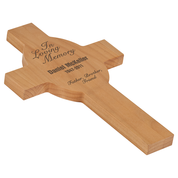 Red Alder Wall Cross with free Engraving