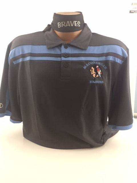 Maconaquah Braves Embroidered Performance Wear Golf Shirt by Augusta