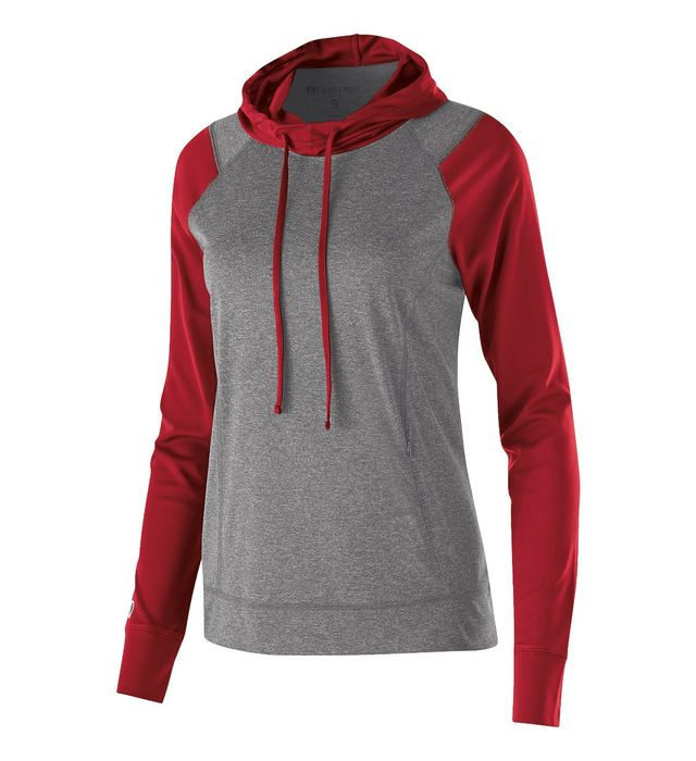 Baseball - Braves LADIES Echo Long Sleeve Hoodie - With Glove Logo - Optional Item