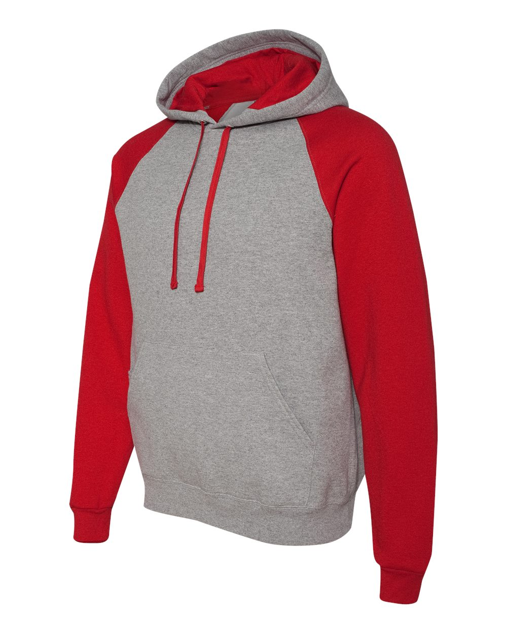 Baseball - Braves Jerzees Color Block Hoodie with Glove logo - Optional Item