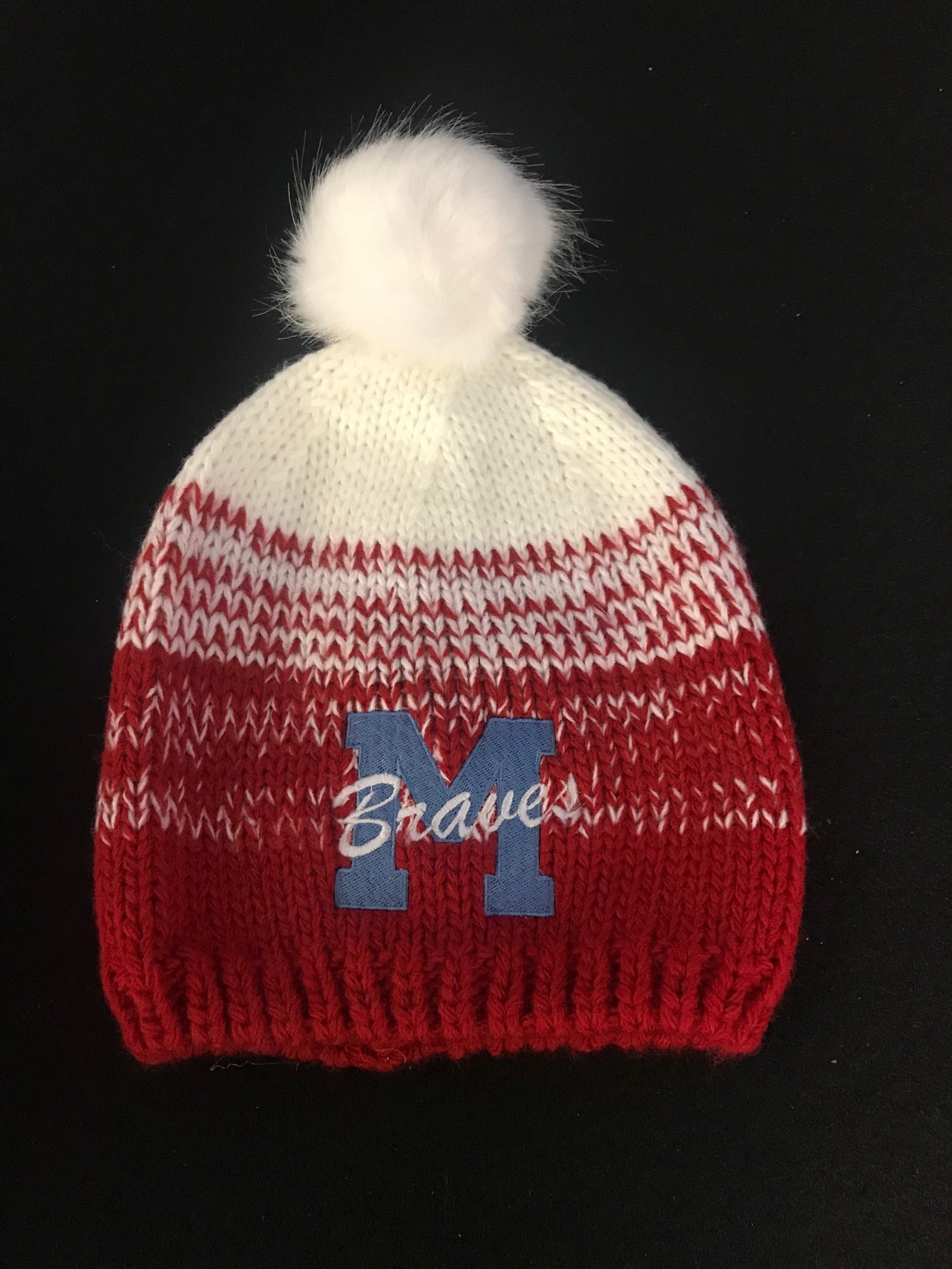 Braves Beanie and Sock Caps - Embroidered