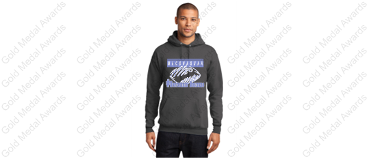 MHS Unfinished Business Football Design Jerzee Charcoal Grey Hoodie