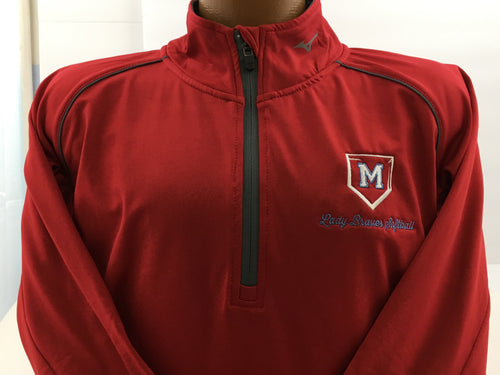MACONAQUAH LADY BRAVES SOFTBALL MIZUNO WOMEN'S COMP 1/2 ZIP LONG SLEEVE PULLOVER