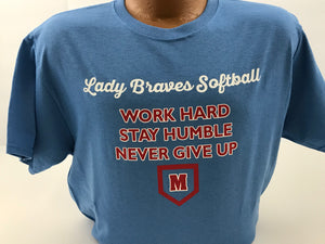 Maconaquah Lady Braves Softball Fan T-Shirt