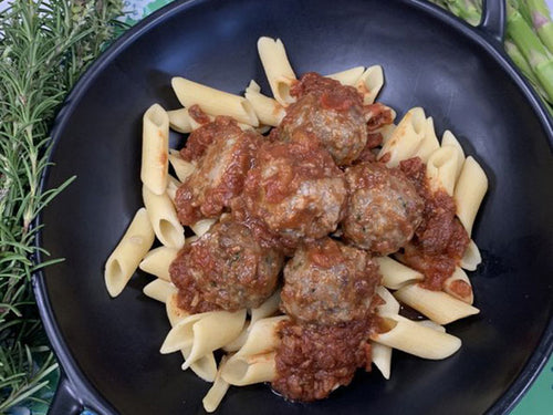 Italian Meatballs with Penne Pasta