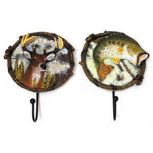 Lodge Animal Wall Hook Set of Two
