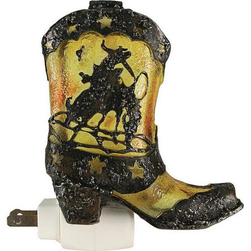 Cowboy Boot Night Light W/Sensor