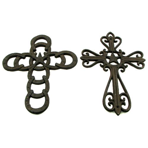 Horseshoe Star Crosses Set of 2