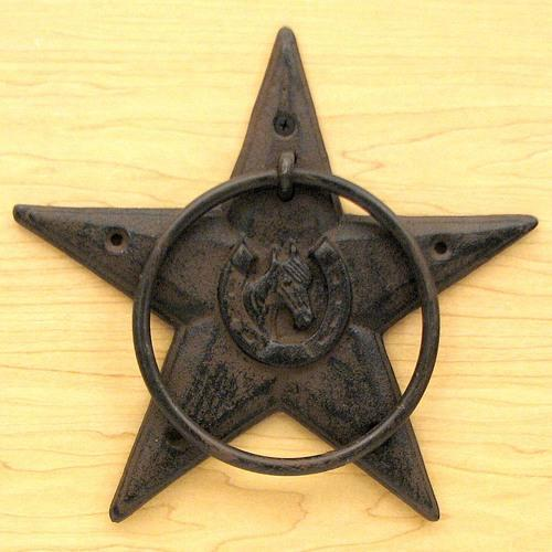 Star Horsehead Towel Ring Set/2