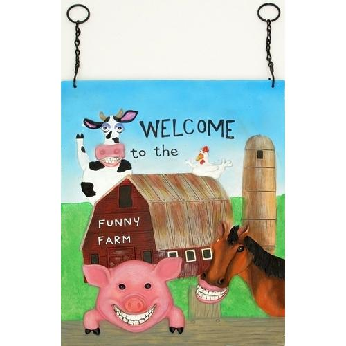 Funny Farm Wall Plaque