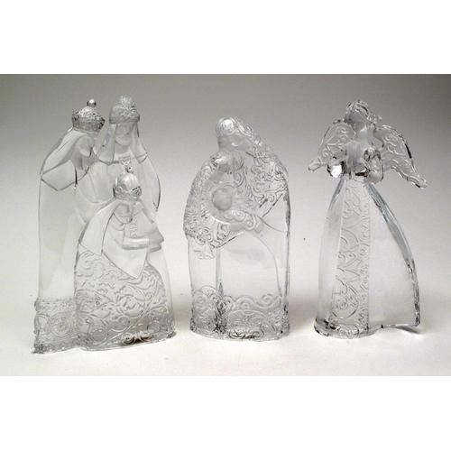 Roman Acrylic Holy FamilyKings/Angel 3 pc set